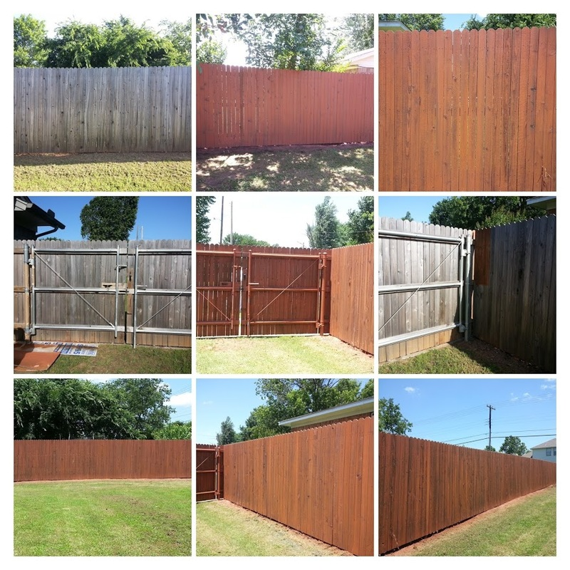Exterior Wood Fence Stained With Semi Transparent Stain. June 2015. House  Painters Tulsa Picture